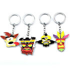 New Crash Bandicoot Trilogy Enamel Character Keychain Key Ring Pendant Gift