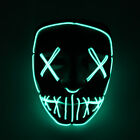 Purge Movie Flash LED Wire Scary Mask Party Festival Halloween Costume Colorful