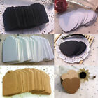 100pcs Blank Kraft Paper Hang Tags Wedding Party Favor Label Price Gift Card New