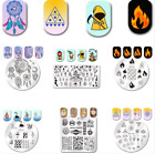 Born Pretty Nail Art Stamping Plates Dream Catcher Feather Fire Leaf Templates
