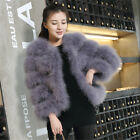Black 100%Real Ostrich Feather Fur Coat jacket wedding Outwear Warm Party Show