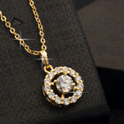 Women Wedding White Topaz 18K Yellow Gold Filled Pendant Sweater Chain Necklace