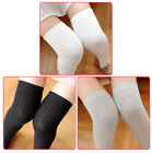 Women Leg Warmers Cable Knitted Long Boot Socks Over Knee Thigh High Stockings