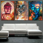 Внешний вид - 3Pcs Painting PRINT Modern Abstract Art Wall Decor Canvas Colorful Buddha S/L