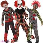 Deluxe Zombie Scary Twisted Clown Boys Kids Circus Halloween Fancy Dress Costume