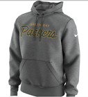 New Nike Men's Green Bay Packers Script Fleece Pullover Hoodie [AQ4819-063] Grey on eBay
