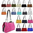 REAL SUEDE NEW WOMENS THREE COMPARTMENTS SHOULDER BAG HANDBAG