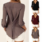Hot Sale Women Ladies Long Sleeve V Neck Blouse Casual Summer Shirt Loose Tops