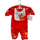 Unisex Baby Boys Girls Christmas 3 Piece Outfit (6-9 Months)