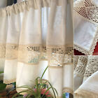 Village Home Decor hand made Crochet lace cotton Kitchen blinds Cafe Curtain
