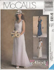 Wedding Bridal Bridesmaids Gown Dress McCalls Pattern 9183 Misses Variations