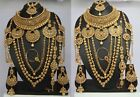 Indian fashion  Dulhan Bridal Necklace Earring women nose ring earring set New