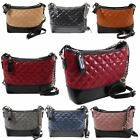 New Quilted Faux Leather Two Tone Design Fashion Shoulder Bag Handbag