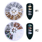 Chameleon AB Color Marquise 3D Nail Art Decoration in Wheel Nail Rhinestones