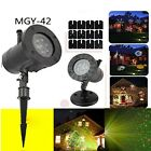 Outdoor Garden Lawn Xmas LED Light R&G Laser Projector Starry Moving Stage Lamp