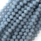 "Star Cut Faceted Blue Angelite Round Beads 15"" Strand Diamond 6mm 8mm 10mm 12mm"