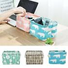 Desk Foldable Storage Bin Basket Cosmetics Stationery Cloth Organizer S0BZ