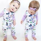 Newborn Baby Infant Girl Romper Bodysuit Jumpsuit Outfit Clothes New 0-24 Month