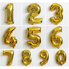 "32"" Gold Helium Foil Balloons Large Letter Number Silver Gold Party Decor"
