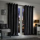 Julian Charles Elegance Charm Charcoal Luxury Striped Velvet Curtains (Pair)