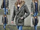 Luxury Men's Parka Winter Russia Young Fashion UK Style Fashion Fur Coat Jacket