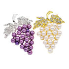 3D Gold Plated Grape Brooch Pin Rhinestone Breastpin Women Wedding Pin Jewelry