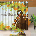 Greeting with thanksgiving turkey Bathroom Fabric Shower Curtain 180x180cm-71in