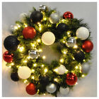 Queens of Christmas Pre-Lit Sequoia Wreath Decorated with Modern Ornament