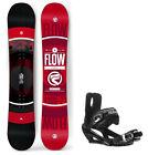 2018 FLOW Vert 151cm Snowboard+5th Element Bindings with Cap Strap NEW