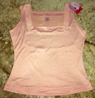 SPANX Hide Sleek Square Neck Rosebud PINK Medium Control Tank Top Womens Plus 2X