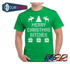 Merry Christmas Bitches Holiday Top Ugly Christmas t-shirt Xmas Gift for Him