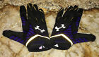 UNDER ARMOUR NFL Baltimore Ravens Nitro Warp II Black Football Gloves Mens Sz XL