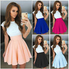 Us Stock New Women Cocktail Dress Party Club Short Sleeve Casual Sakter Dress