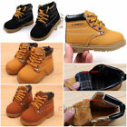 Kids Baby Boys Girls Toddler Winter Warm Fur Ankle Snow Boots Casual Shoes XMAS