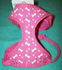 NEW XS Pink Patterned Adjustable Dog Harness Top Paw (Pick Print/Pattern)
