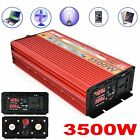 3500W Max Power Inverter DC 12V To 110V AC LCD Converter Charger USB Output