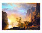 "ALBERT BIERSTADT ""Sunset In Rockies"" CANVAS, PAPER various SIZES available, NEW"