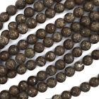 "Brown Coffee Jasper Round Beads Gemstone 15.5"" Strand 4mm 6mm 8mm 10mm 12mm"