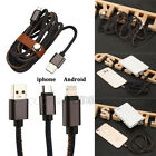 1/2m Cowboy Jean Charger Data Cable For iPhone Android Micro USB2.0 Safe & Easy