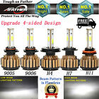 LED Headlight H4 H7 H8/H9/H11 9005 9006 28000LM Conversion Driving Lamps 6000K