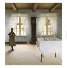 """PETER ILSTED """"Interior With A Young Girl Serving Tea"""" various SIZES, BRAND NEW"""