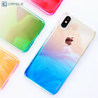 CAFELE Gradient Transparent Light Hard Case Cover Protective Shell For iPhone X