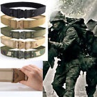 Men Outdoor Hiking Sports EVA Waistband Army Military Canvas Buckle Belt Webbing