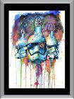 Star Wars Watercolour Storm Trooper A1 To A4 Size Poster Prints $20.95 AUD