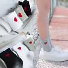 1pair New Women Heart Pattern Soft Breathable Ankle-High Casual Cotton Socks US