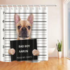 """Animal Bad Dog Catched by Police in Prison Bathroom Fabric Shower Curtain 71"""""""