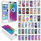 For Apple iPod Touch 5 5th/6 6th Gen Bling Hybrid Rubber Silicone Case Cover