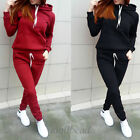 Womens Tracksuit Hoodies Sweatshirt Pants Sets Sport Wear Work Casual Suits New