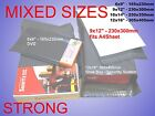 50 100 Mixed Grey Plastic Postal Mailing Postage Bags Book Shoes Dress DVD Shirt