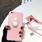 2017 Squishy 3D Soft Silicone Cat Bear TPU Phone Case Cute Cover For iPhone